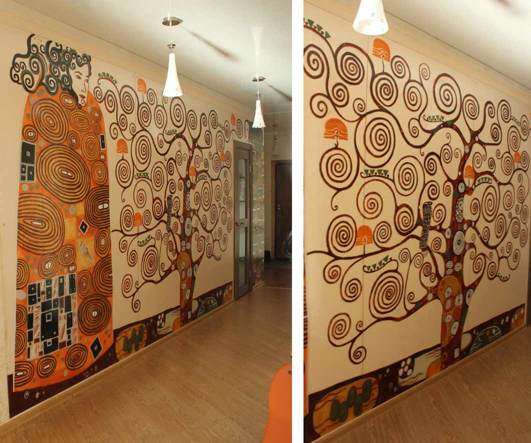 Дизайн стен своими руками фото